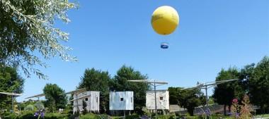 Découvrez Terra Botanica vu du ciel en Ballon Captif
