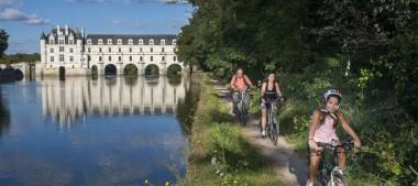 Échappées à vélo «Autour d'Amboise et Chenonceau» en Région Centre-Val de Loire