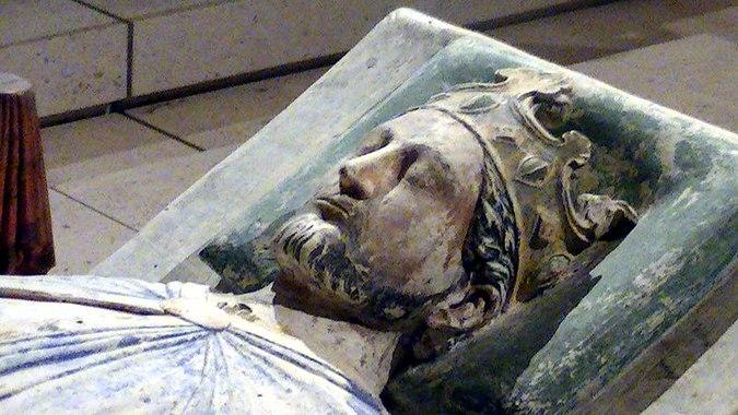 Gisant de Richard Cœur de Lion (vers 1199, abbaye de Fontevraud (Maine-et-Loire) - © Adam Bishop