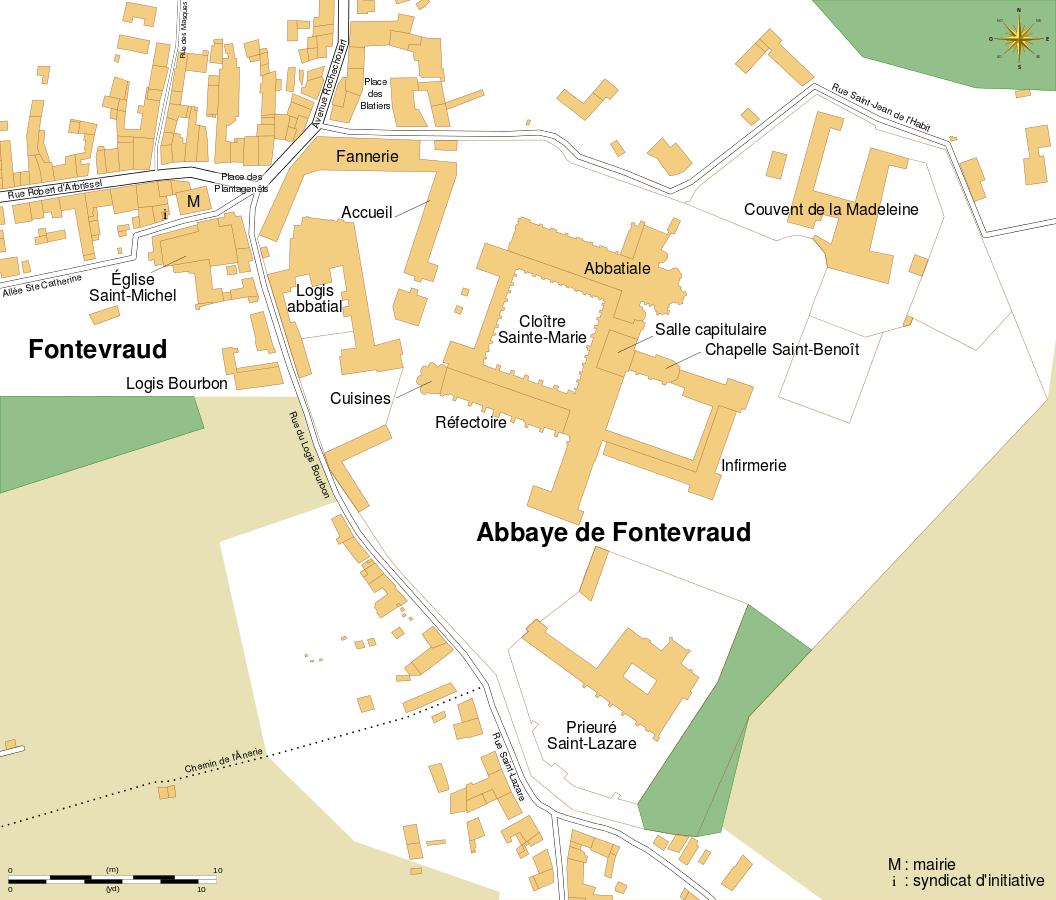 plan de L'Abbaye de Fontevraud