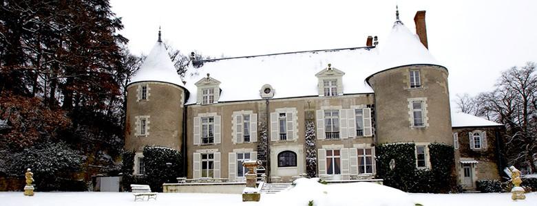 chateau de pray sous la neige