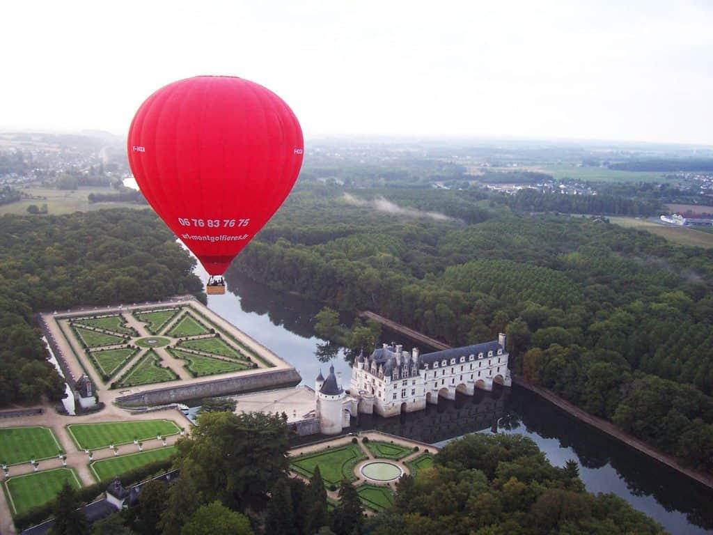 Vol au dessus du Château de Chenonceau