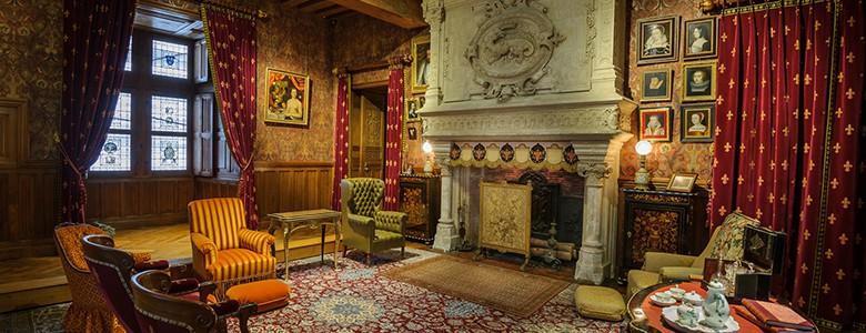 Le Salon Des Biencourt Restaure Au Chateau D Azay Le Rideau Val De
