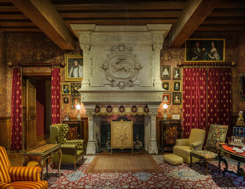 Le salon des biencourt restaur au ch teau d 39 azay le rideau val de loire - Restaurant l aigle d or azay le rideau ...