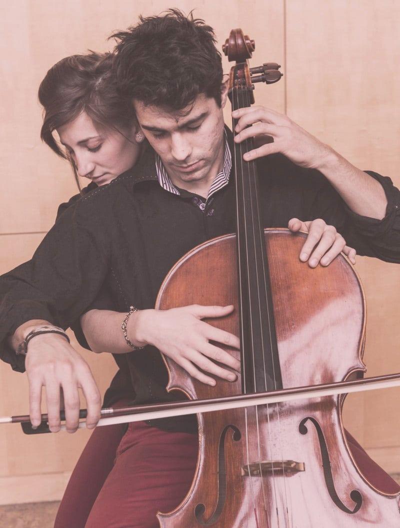 Duo Insolite Percussions Violoncelle Au Bignon Mirabeau