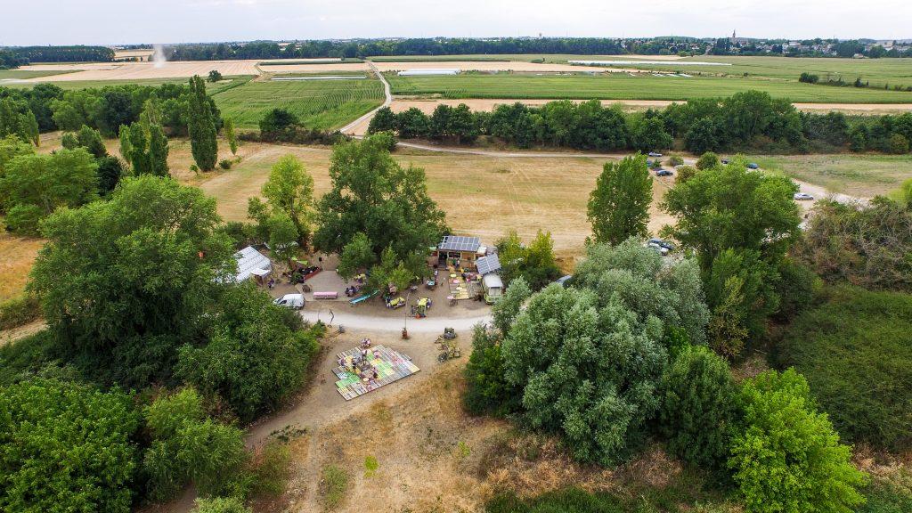 Corne des pâtures vue aérienne - copyright - My Loire Valley