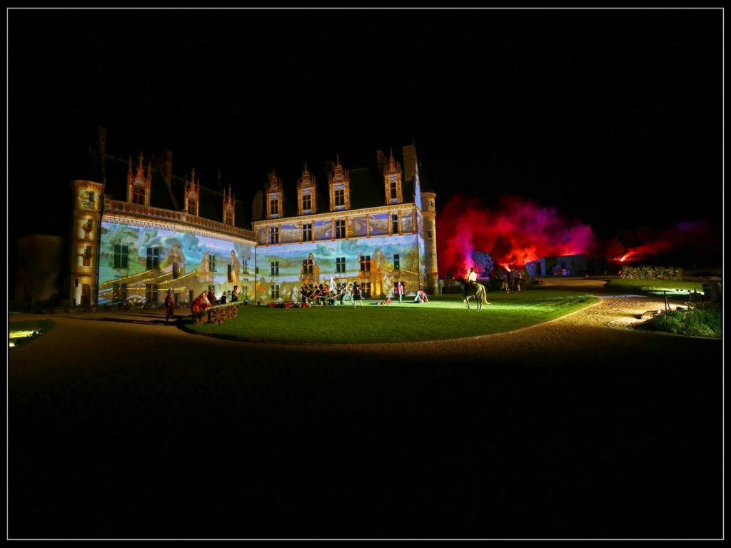 Spectacle nocturne au chateau royal d'Amboise