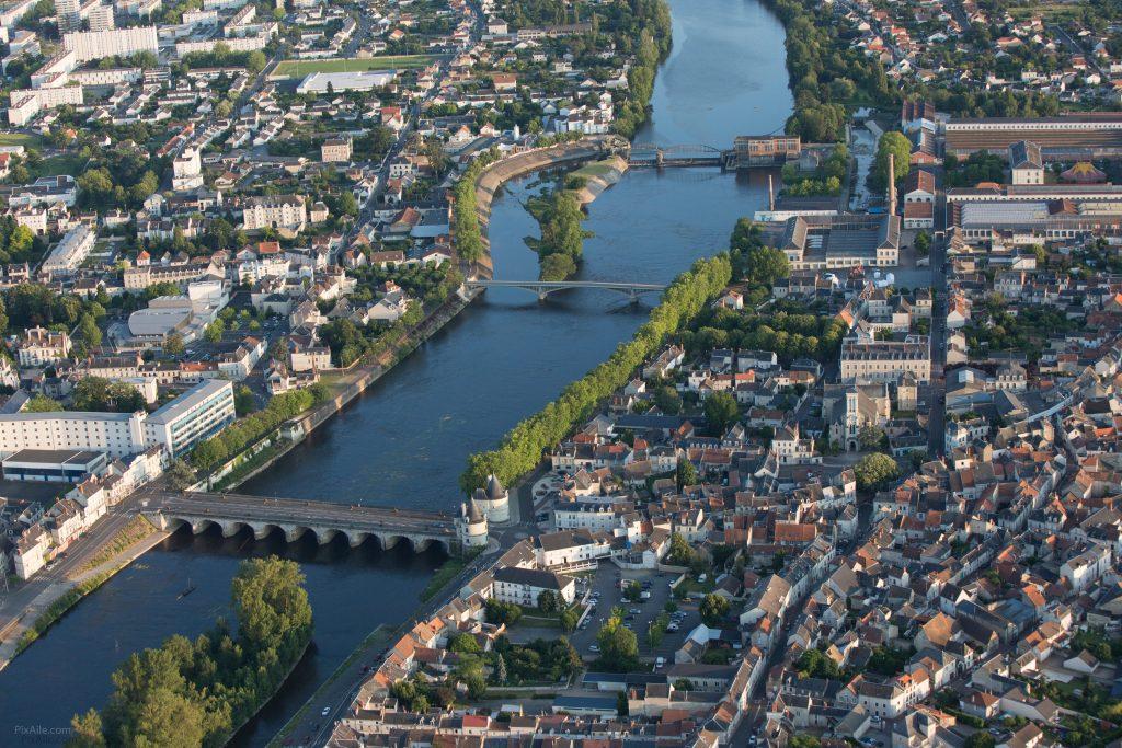 Vue aérienne de la Vienne