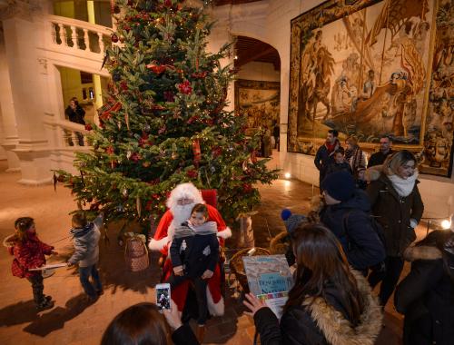 Rencontre avec le Père Noël à Chambord 2018 - © L. de Serres