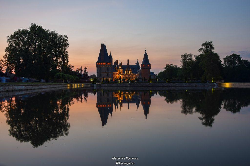 nuit sur le chateau de maintenon