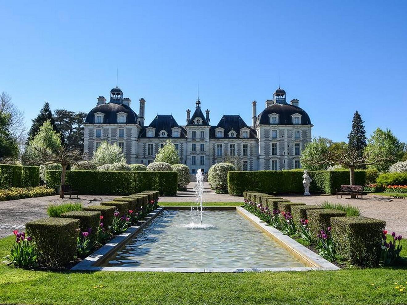 chateau de cheverny - tulipes