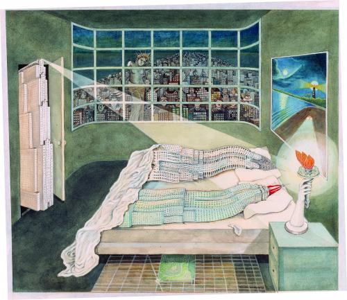 Madelon Vriesendorp Flagrant délit, 1975 Delirious New York Coll. Frac Centre Val de Loire
