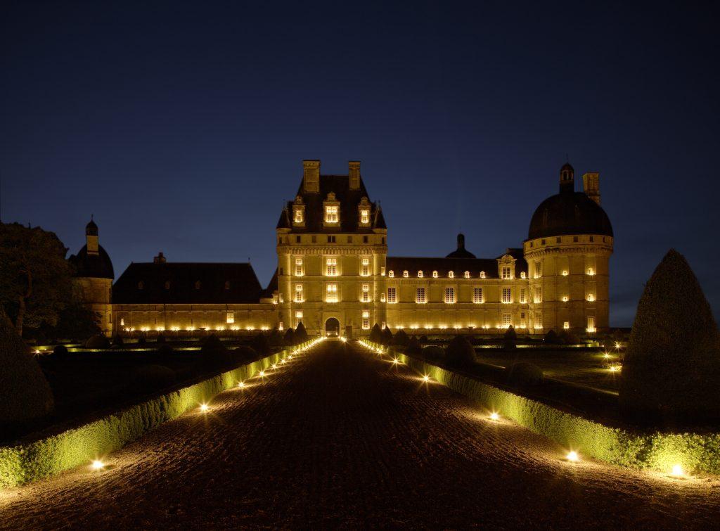 Château de Valençay de nuit