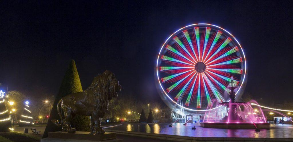 Animations Soleils d'hiver 2016, grande roue et illuminations dans le jardin du Mail