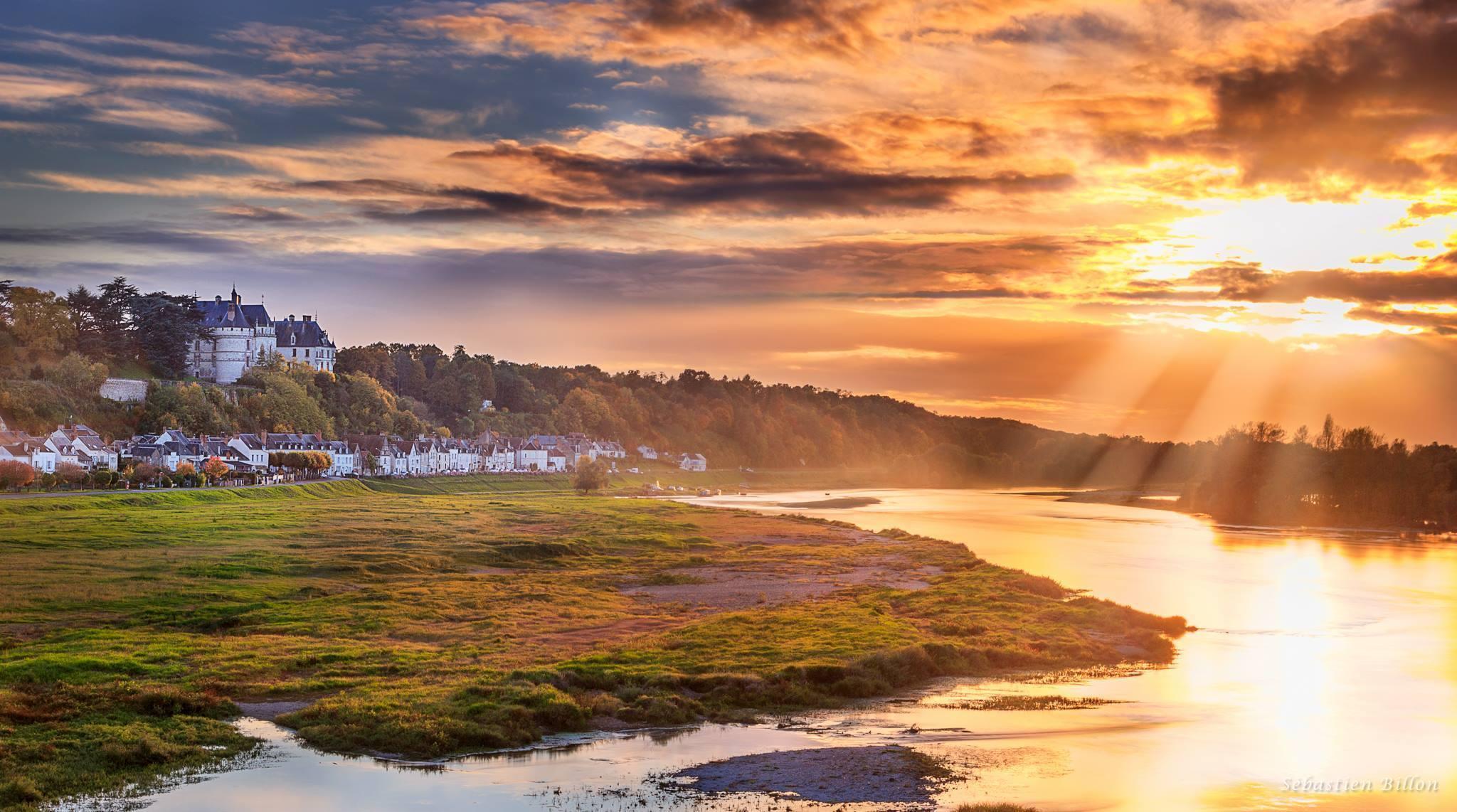 Coucher de soleil à Chaumont-sur-Loire