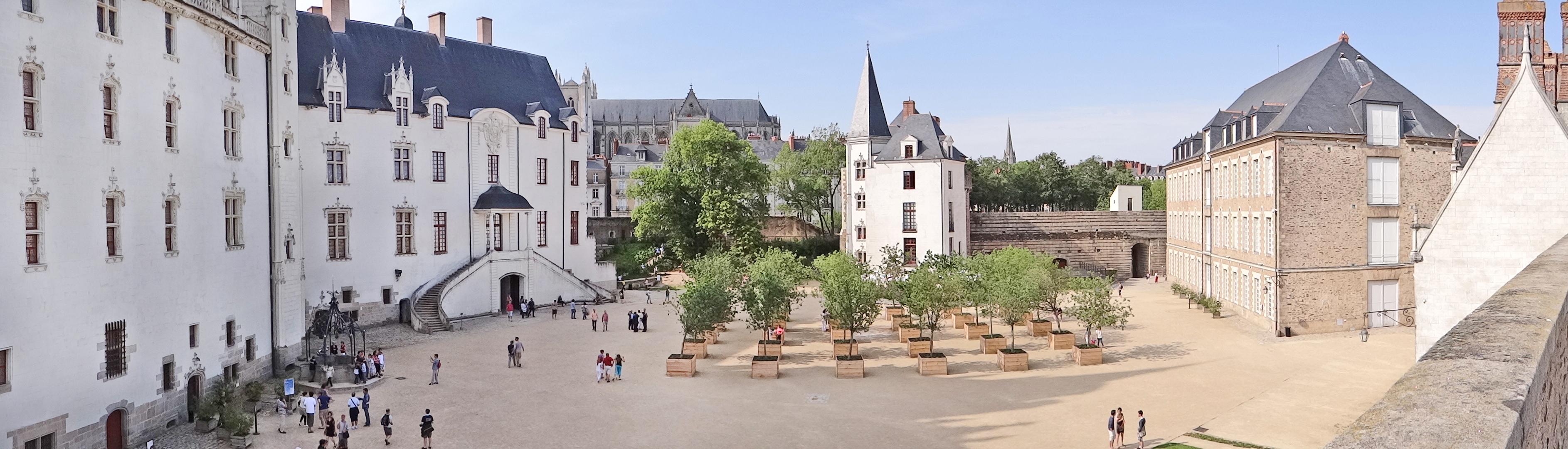 La cour intérieure du château des ducs de Bretagne (Nantes)
