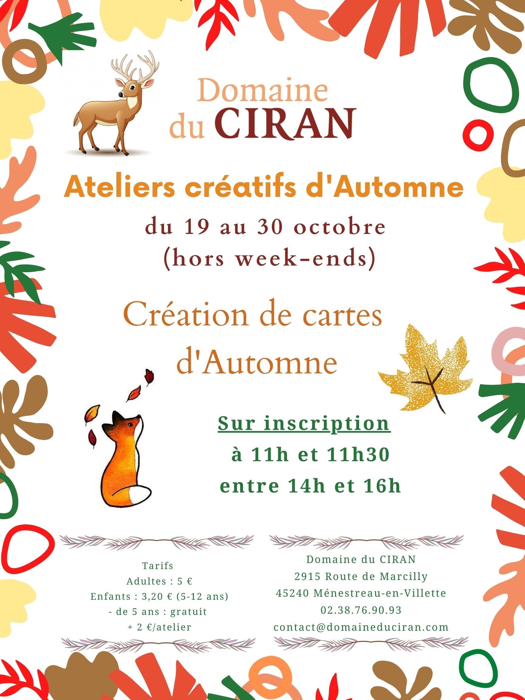 affiche-ateliers-automne-domaine-du-ciran