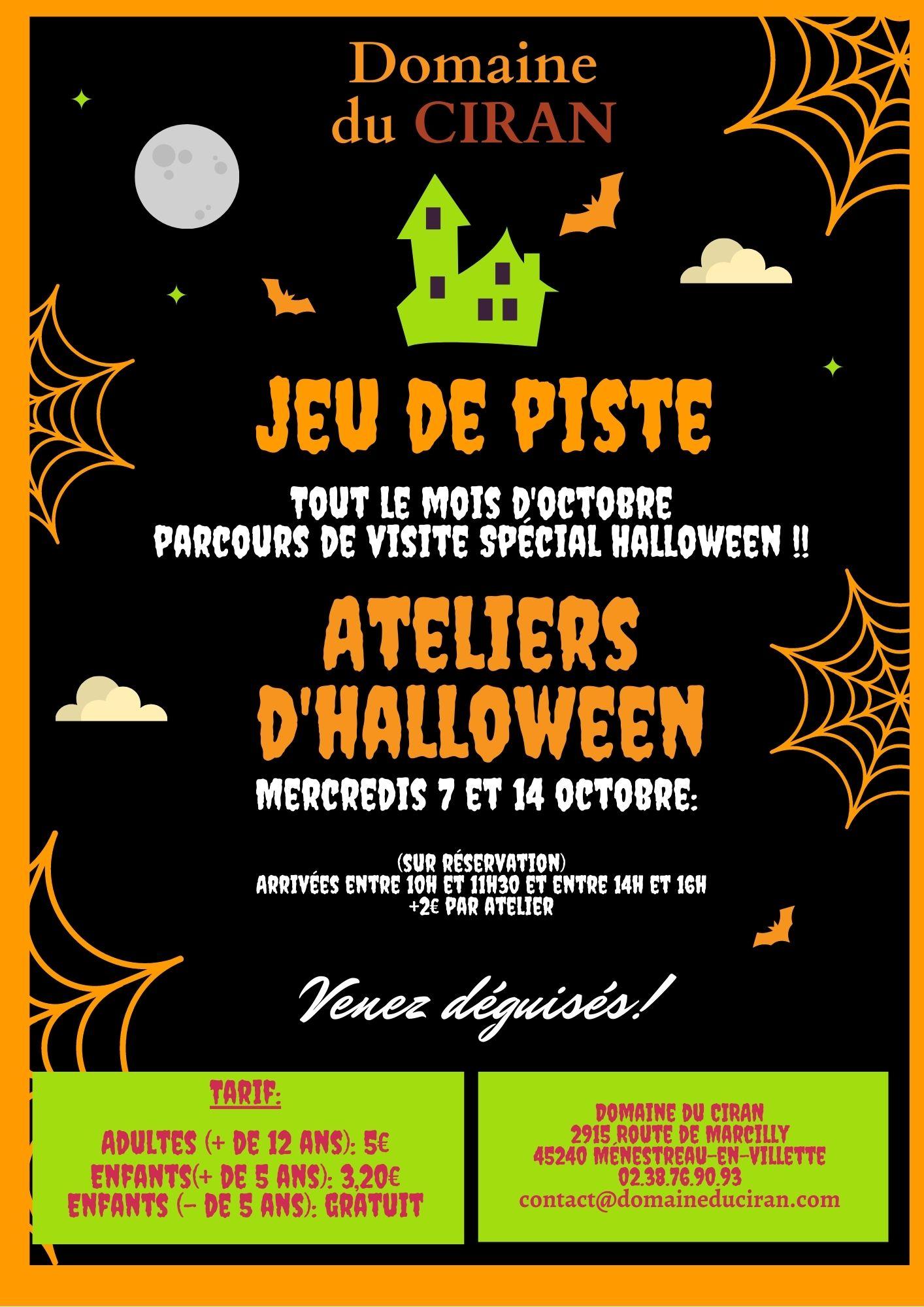 Affiche Halloween 2020 Domaine du Ciran