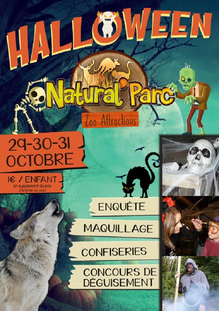 Affiche halloween Natural'Parc