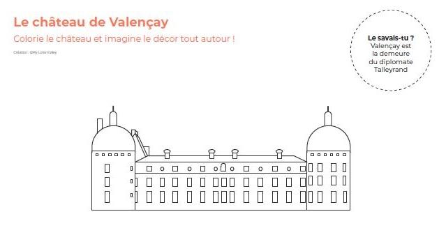 coloriage des châteaux de la Loire