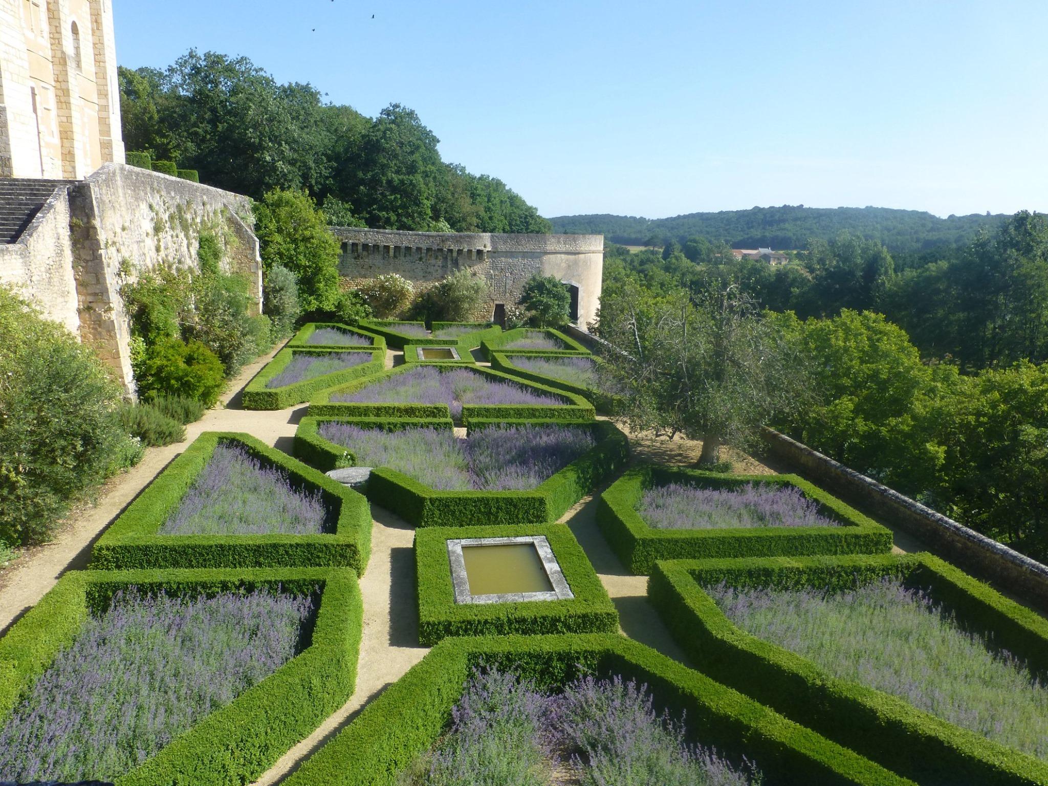 Jardin du château de Touffou