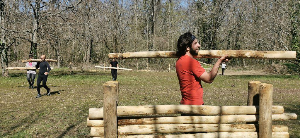 Parcours d'obstacles Loisirs Loire Valley - Portée de rondins