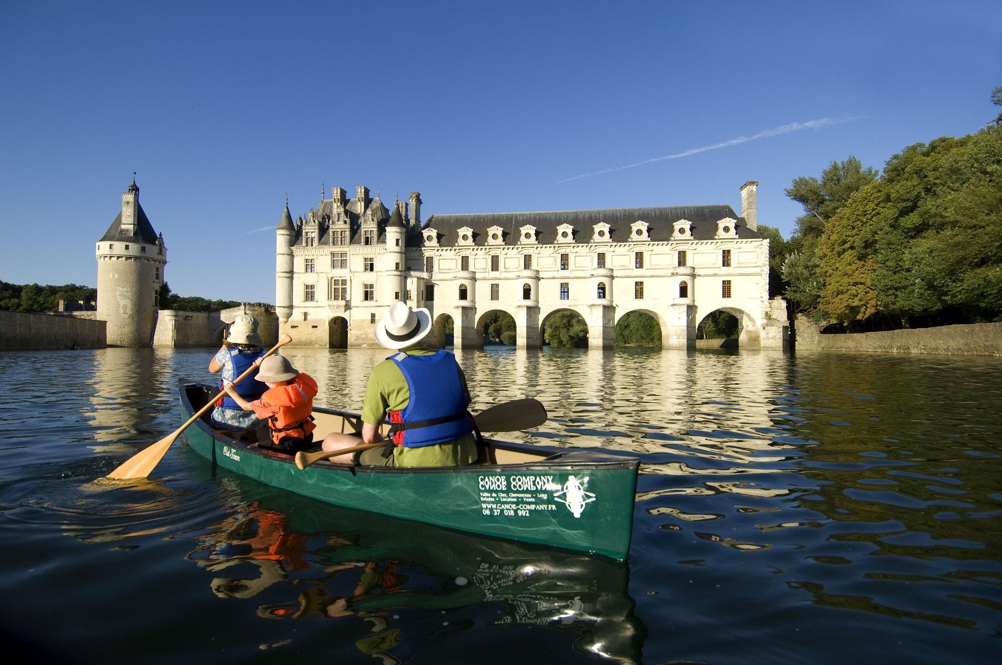 Canoe Kayak sur le Cher à Chenonceau